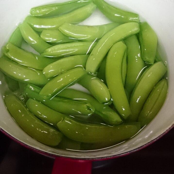 スナップエンドウのおいしい茹で方