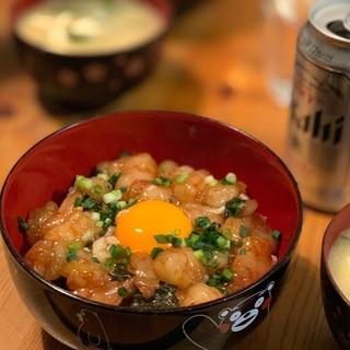赤海老のユッケ丼