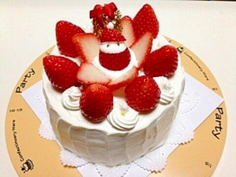 奮闘wサンタ一匹クリスマスケーキ|・ω・`)ん?