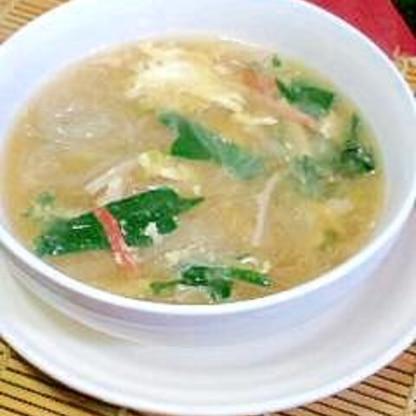 春雨すすむ濃くウマ中華スープ