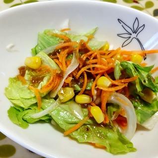 レタスとにんじんの和風サラダ