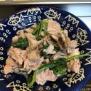 豚肉と舞茸とほうれん草の辛子マヨソテー^_^