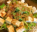 豆腐と水菜のサラダ