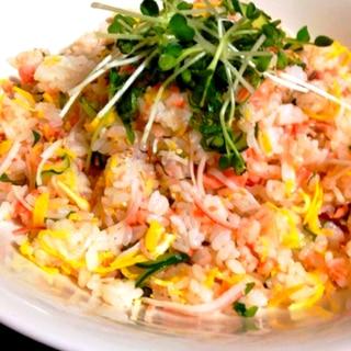 ちらし寿司〜カニカマと鮭で簡単おもてなし