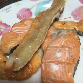 脂がしつこくなくなる!鮭のアラやハラス!