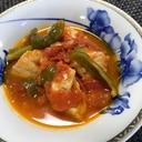 夏野菜!鶏むね肉とピーマンのトマト煮込み❗️