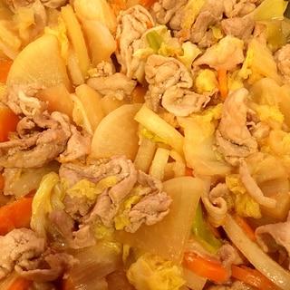 ほっこり 豚と野菜の生姜炒め煮