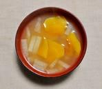 かぼちゃと大根の味噌汁