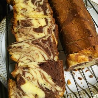 ホットケーキミックス ココアマーブルパウンドケーキ