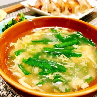 簡単♡ニラ玉スープ