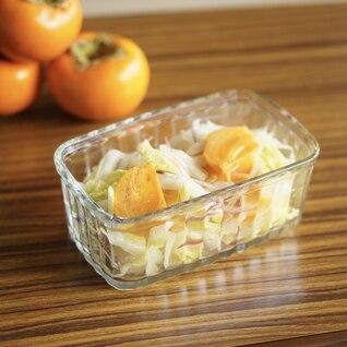 白菜と柿のマリネ