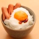 ふわふわメレンゲ卵かけご飯TKGウインナー添え