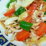 イカみみと彩野菜の炒め物