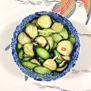 茄子と胡瓜、生姜の浅漬け