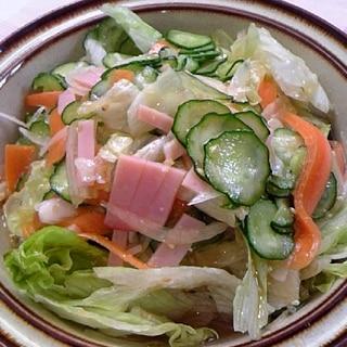 甘めのドレッシングde新鮮生野菜サラダ♪
