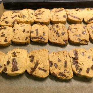 板チョコでゴロッとチョコクッキー