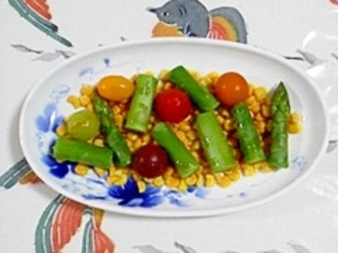 アスパラとスイートコーンのサラダ