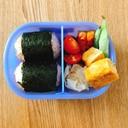 ☆今週のお弁当☆鮭としらすの混ぜ混ぜおにぎり弁当