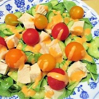 サラダチキン・ほうれん草・トマトサラダ