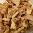 蓮根と厚揚げの味噌煮