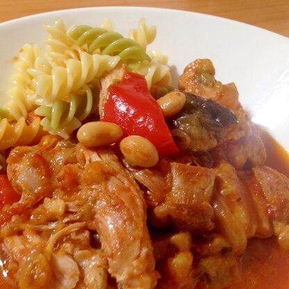 野菜たっぷり!鶏肉のトマト煮込み