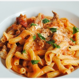 サルシッチャとモッツァレラのトマトソースのジッリ