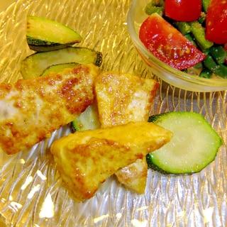 ヘルシースパイシー☆カジキのチーズカレーソテー