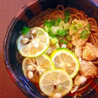 爽やか美味しい☆すだち蕎麦☆秋の味覚