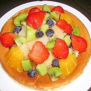 たっぷりフレッシュフルーツのチーズケーキ