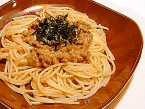 簡単♪納豆パスタ★バター醤油味