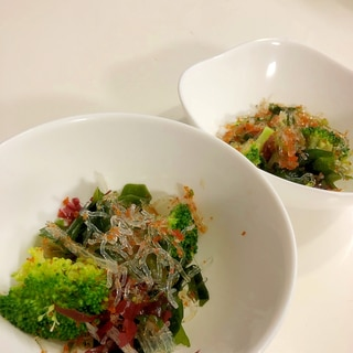 ブロッコリーと海藻のプチプチサラダ