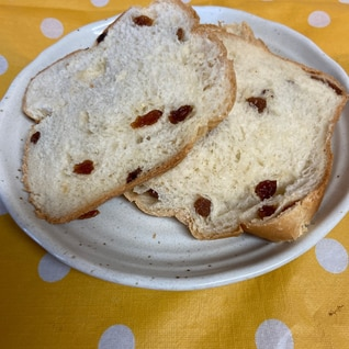 HBで節約ふわふわレーズン食パン♪1.5斤