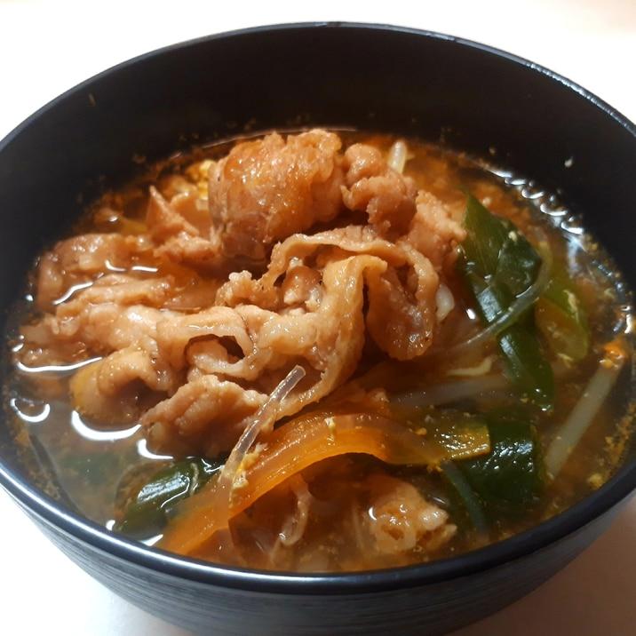 もやしとはるさめの韓国風スープ