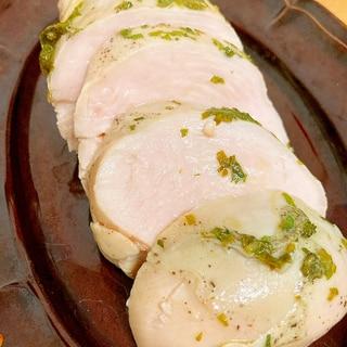低温調理●鶏むね肉のサラダチキン仕立て青じそ味