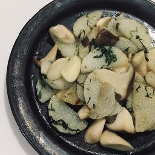 長芋とエリンギの塩胡椒炒め