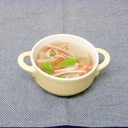 大根とスナップエンドウとカニカマのスープ