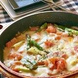 ★トマト・アスパラ・厚切りベーコンのチーズ焼き★