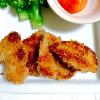 揚げ焼きで作りました。お肉も柔らかくて美味しかったです(*^▽^*)