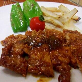 ガッツリ食べましょう☆豚肉のバーベキューソース
