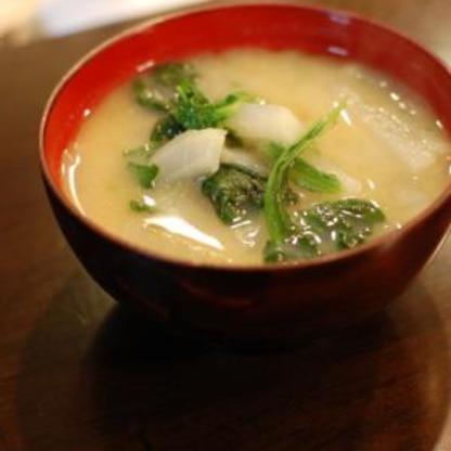 超簡単!春菊と大根のお味噌汁