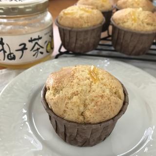 柚子茶とH Mで簡単 カップケーキ
