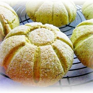 かぼちゃの餡入り♪メロンパン