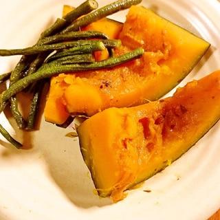 かぼちゃとささげ豆の煮物