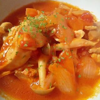 ほったらかし調理★鶏肉のトマト煮込み