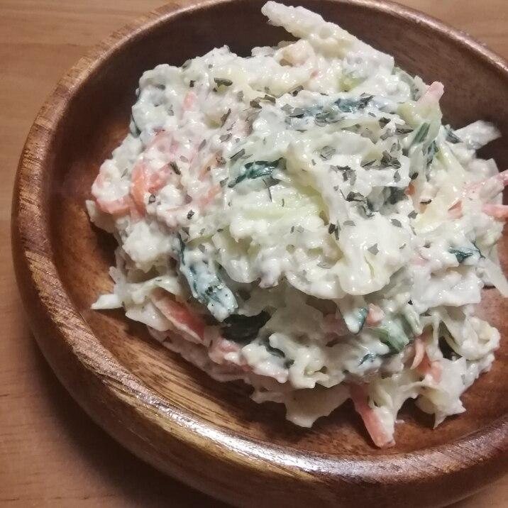たっぷりキャベツと人参青菜のクリームチーズ白和え