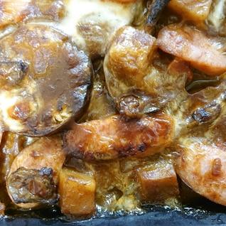カレーをリメイク☆なすのカレーチーズ焼き