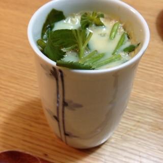 三つ葉とえのきの、茶碗蒸し