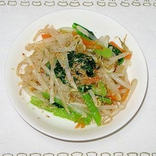 ★初心者でも簡単★小松菜ともやしのナムル★