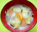 茄子とキャベツにんじんの味噌汁