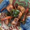ササミとピーマンの味噌炒め